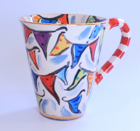 "Large Mug ""Bunting"" with Attitude - MaryRoseYoung"
