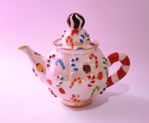 Candy Cane Teapot