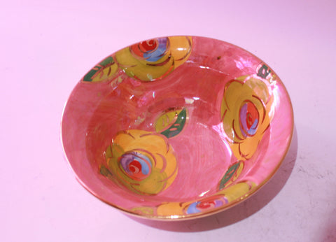 Cereal Bowl Gold New Rose Pink - MaryRoseYoung