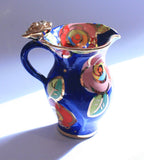 Creamer Jug Gold New Rose Powder Blue - MaryRoseYoung