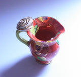 "Creamer Jug ""New Red New Rose"" - MaryRoseYoung"