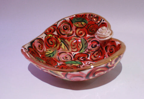 Heart Shaped Bowl in Rosebush - MaryRoseYoung