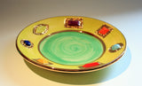 Jewelled Dinner Plate Green - MaryRoseYoung