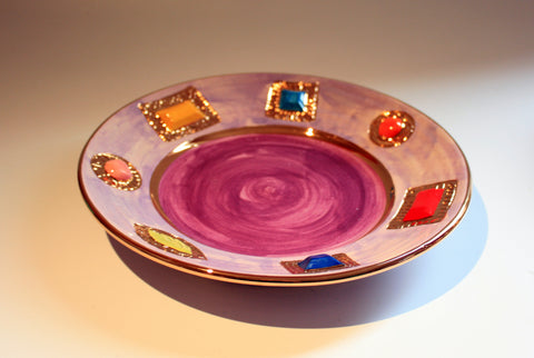 Jewelled Dinner Plate Lilac - MaryRoseYoung