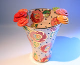 Large Rose Edged Flared Vase - MaryRoseYoung