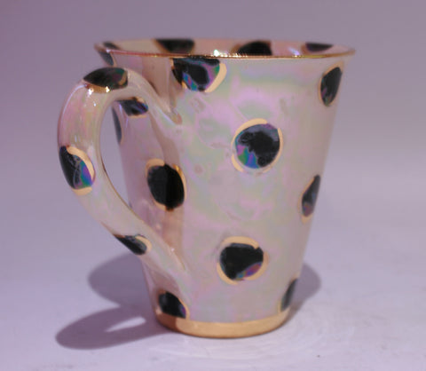 New Shape Large Mug Black Dot - MaryRoseYoung