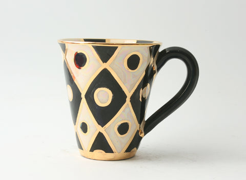 Black and White Chequer Mug - MaryRoseYoung