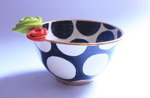 Noodle Bowl Big Black Dot - MaryRoseYoung