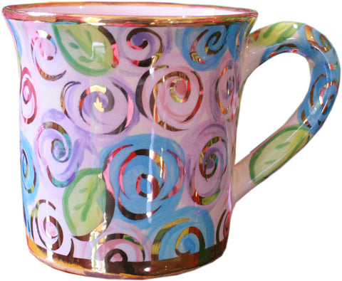 Large Mug Pale Block Rose - MaryRoseYoung