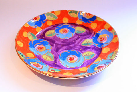 Dinner Plate Roses Purple and Dotty Orange - MaryRoseYoung