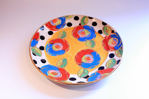 Dinner Plate Roses Yellow with Black Dots - MaryRoseYoung
