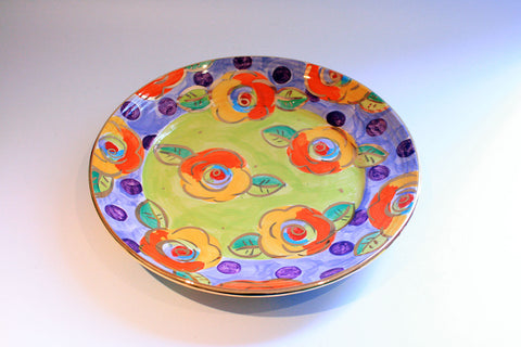 Dinner Plate Roses Lime Green with Dotty Purple - MaryRoseYoung