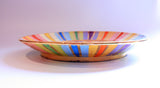 Dinner Plate Lustred Stripes - MaryRoseYoung