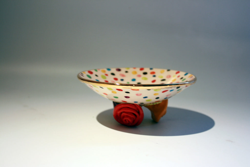 Rose Footed Dish Confetti - MaryRoseYoung