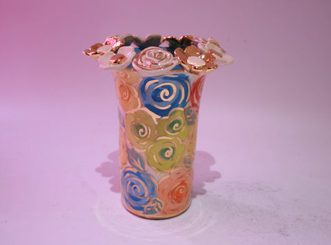 Small Tall Encrusted Vase - MaryRoseYoung