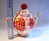 Medium Teapot Strawberry - MaryRoseYoung