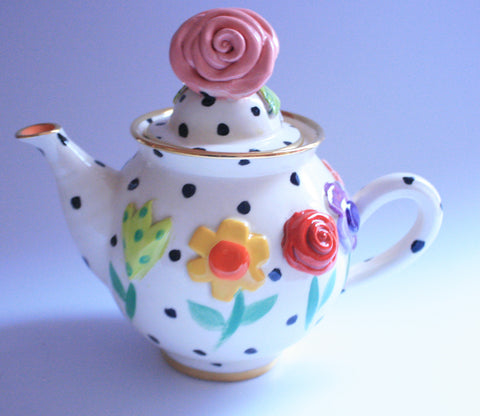 Tiny Teapot Pressed Flowers - MaryRoseYoung