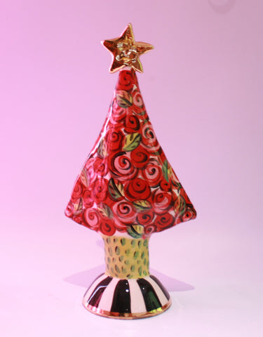 Medium Sized Christmas Tree with Rosebush - MaryRoseYoung