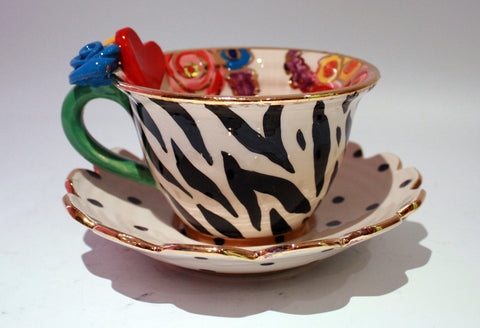 """Alice in Wonderland"" Queen of Hearts Cup and Saucer - MaryRoseYoung"