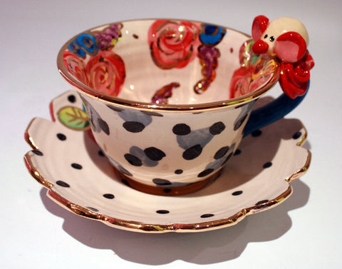 """Alice in Wonderland"" Mouse Cup and Saucer - MaryRoseYoung"