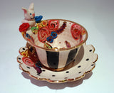"""Alice in Wonderland"" White Rabbit Cup and Saucer"
