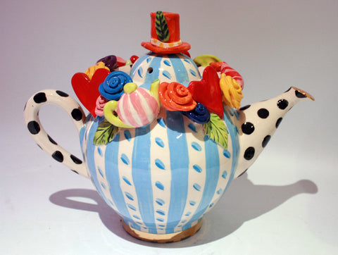 """Alice in Wonderland"" Large Teapot - MaryRoseYoung"