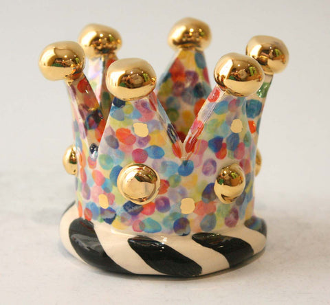 Crown Candleholder in Confetti - MaryRoseYoung