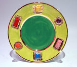 Green Jewelled Tea Plate - MaryRoseYoung