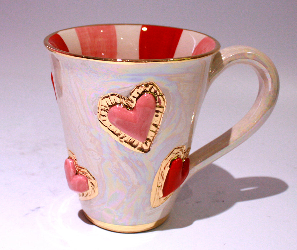 Large Jewelled Heart Mug - MaryRoseYoung