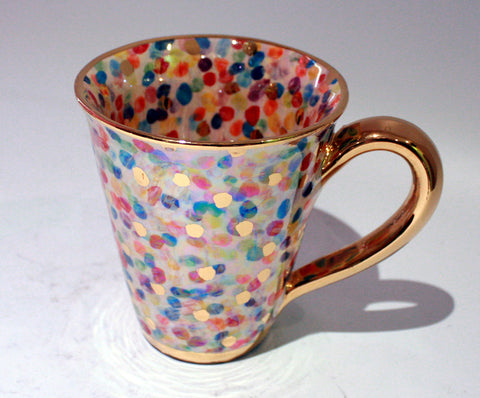 Large Confetti Mug with Gold Handle - MaryRoseYoung
