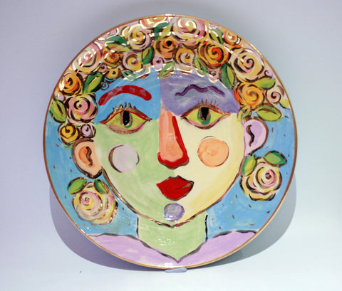 "Faces Dinner Plate ""Fiona"""