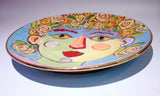 "Faces Dinner Plate ""Fiona"" - MaryRoseYoung"