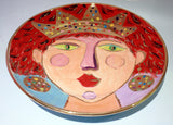 "Faces Dinner Plate ""Scarlet"""