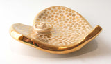 Heart Shaped Soap Dish in Gold Confetti - MaryRoseYoung