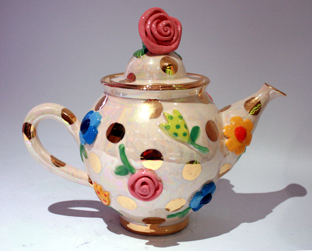 Pressed Flower Teapot - MaryRoseYoung