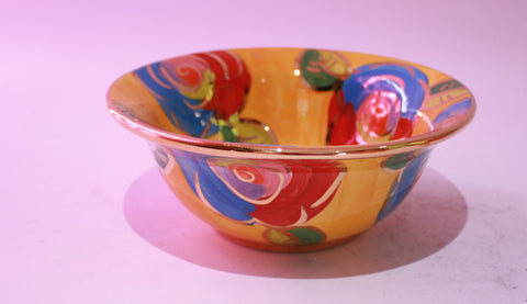 Cereal Bowl Gold New Rose Yellow - MaryRoseYoung
