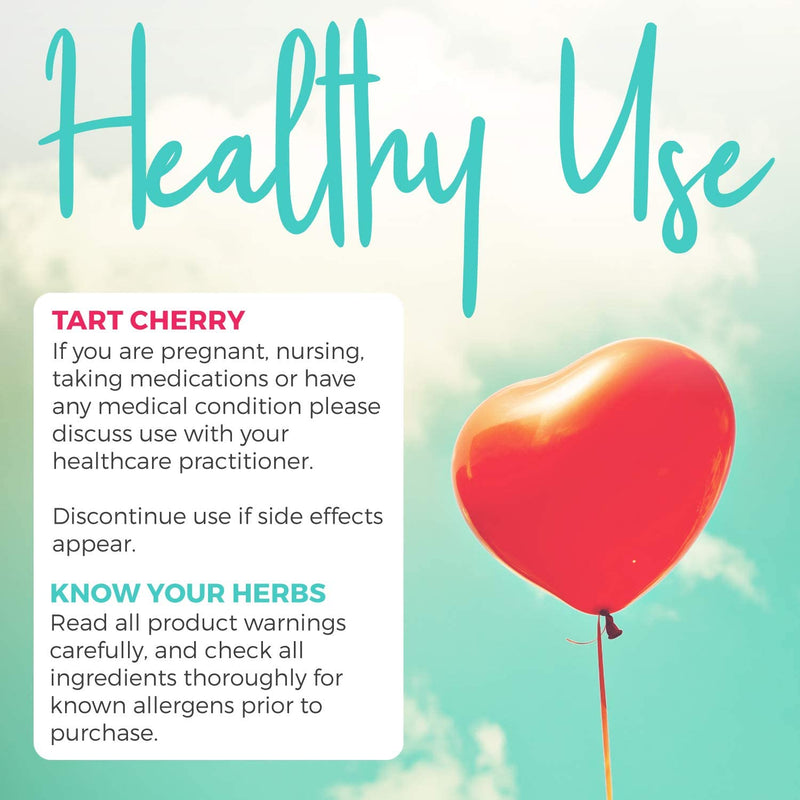Organic Tart Cherry Capsules - 4:1 Extract Equals 2000mg of Fresh Tart Cherries (Vegan) Natural Uric Acid Support, Sleep Aid, Joint Support Supplement - 60 Capsules of 500mg (No Pills or Juice)