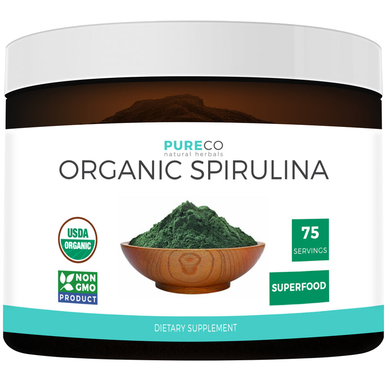 USDA Organic Spirulina Powder 8OZ (Vegan) 75 Servings