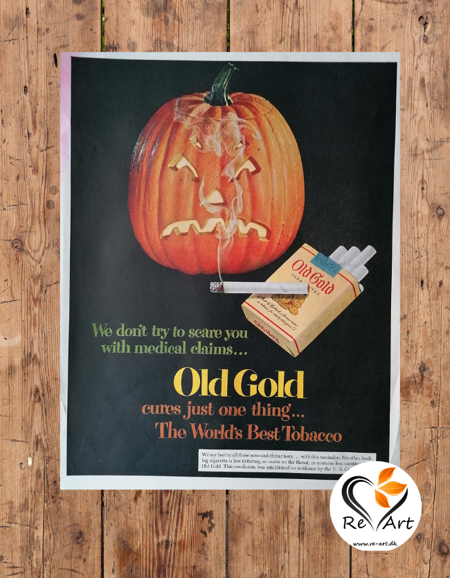 Old gold reklame plakat for cigaretter |Re-ART:DK