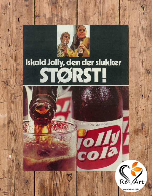 Iskold Jolly, den der slukker størst! (Jolly Cola, 1970) - re-art