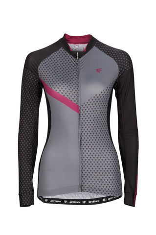 Womens Venture Cycling Jersey (Long Sleeve) Berry - ENTRIX