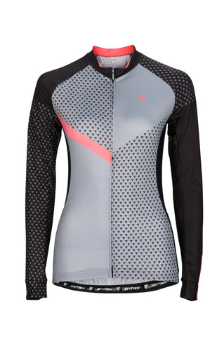 Womens Venture Cycling Jersey (Long Sleeve) Peach - ENTRIX