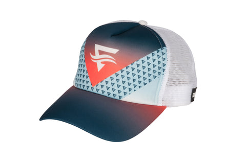 Mens Momentum Trucker Cap - White Mesh - ENTRIX
