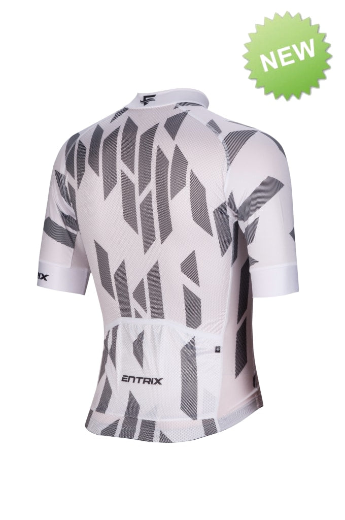 Digital Cycling Jersey Mens - White/Black - ENTRIX