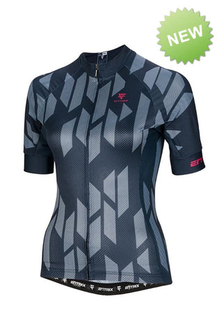Digital Cycling Jersey Womens - Navy Blue/White - ENTRIX