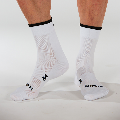 Icon Cycling Sock - White - ENTRIX