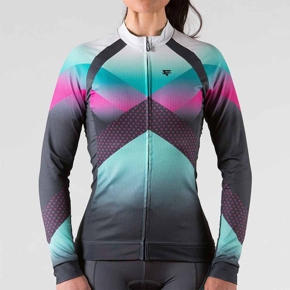 Momentum Long Sleeve Cycling Jersey Womens - ENTRIX
