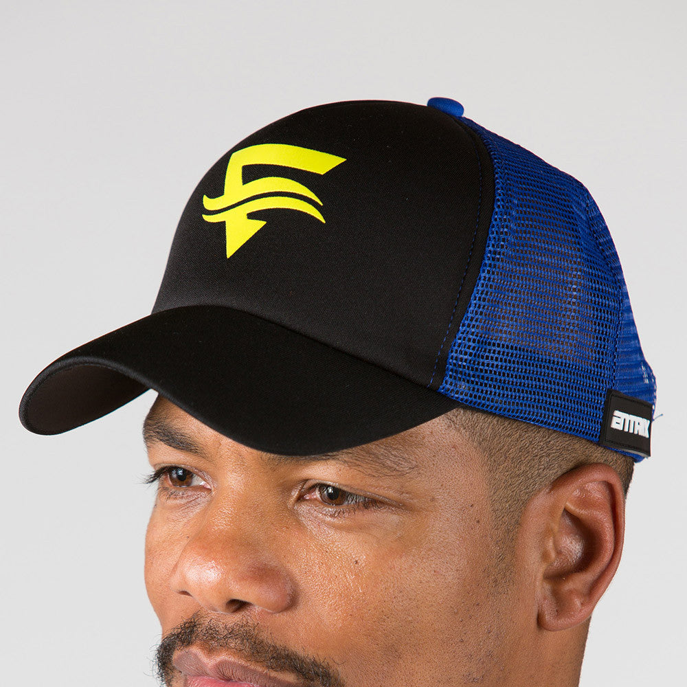 Icon Trucker Cap - Black/Blue - ENTRIX