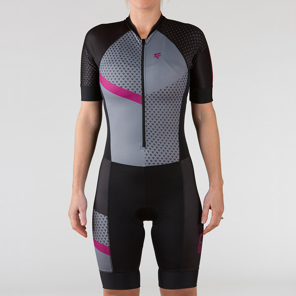 Venture Triathlon Suit - Elbow Sleeve Berry - ENTRIX