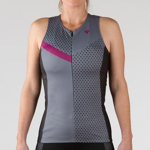 Venture Triathlon Top - Sleeveless Berry - ENTRIX